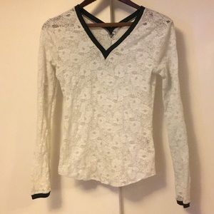 Free People ivory lace top small